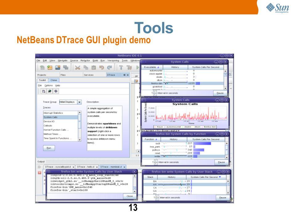 13 NetBeans DTrace GUI plugin demo Tools