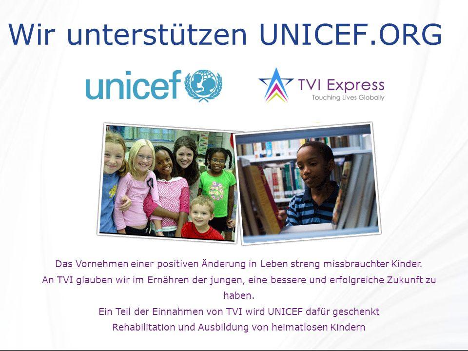 Wir unterstützen UNICEF.ORG Das Vornehmen einer positiven Änderung in Leben streng missbrauchter Kinder.