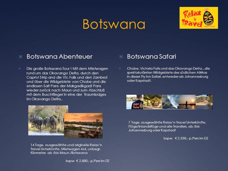 Botswana  Botswana Abenteuer  Die große Botswana Tour .
