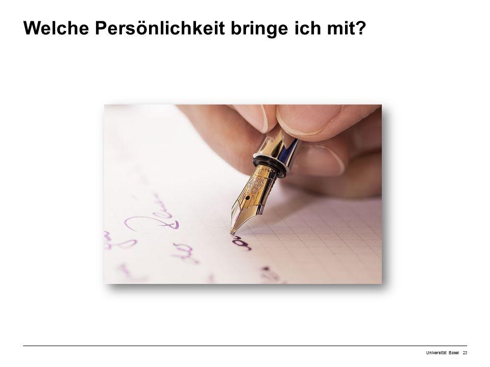 Welche Persönlichkeit bringe ich mit Universität Basel23