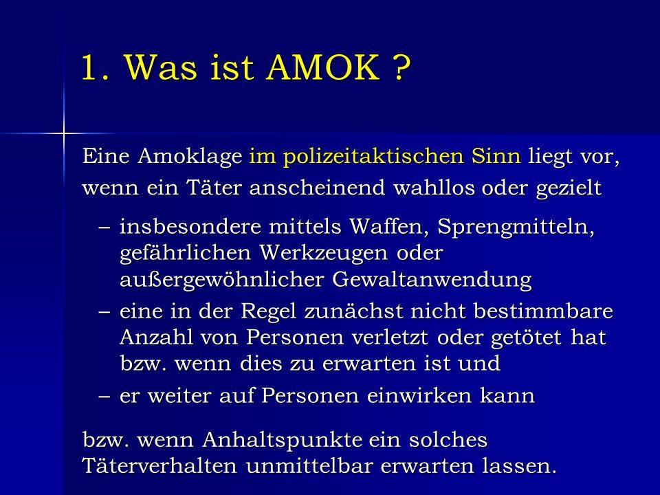1. Was ist AMOK .
