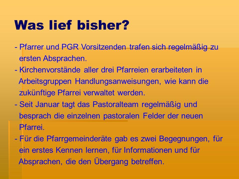 Pastoralteam - Pfr.Marcellus Klaus (100%) - Pfr. Michael Neudert (Kooperator - 50%) - Pfr.