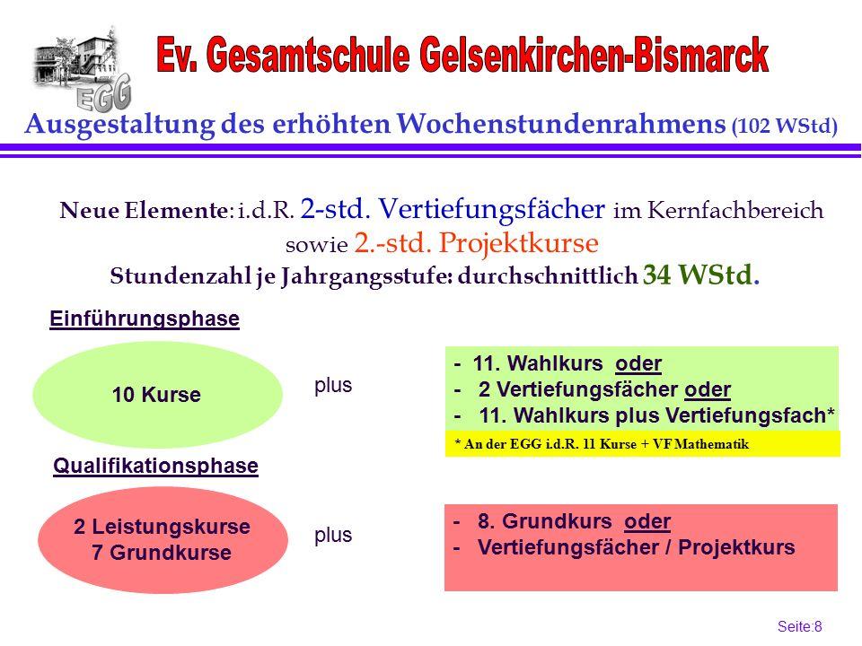 Seite:8 8 Ausgestaltung des erhöhten Wochenstundenrahmens (102 WStd) 10 Kurse - 11.