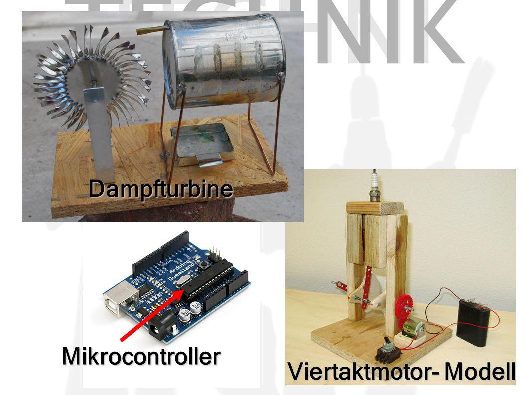 TECHNI K Dampfturbine Viertaktmotor- Modell Mikrocontroller