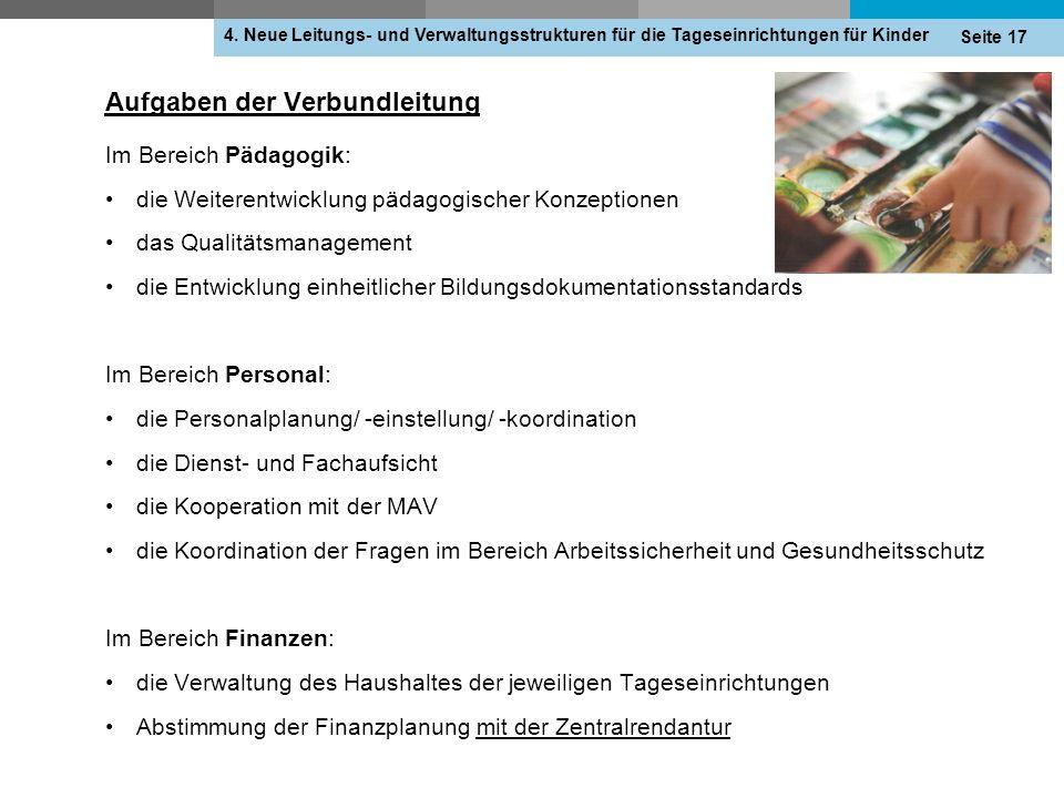 Aufgaben der Verbundleitung 4.
