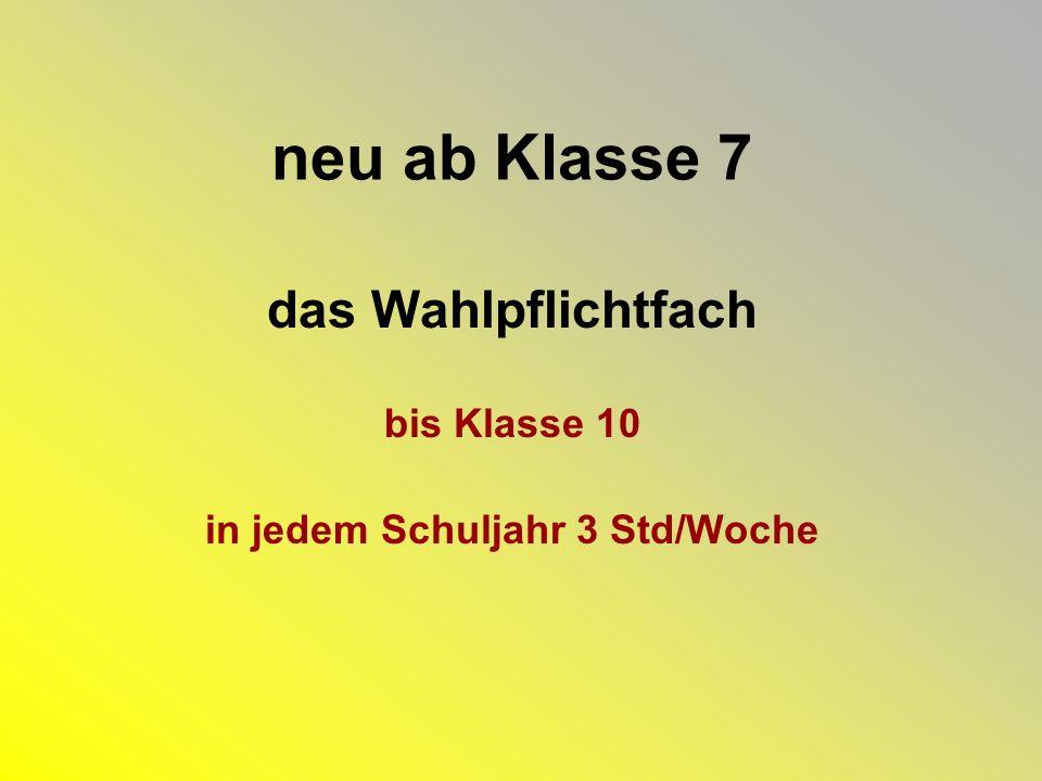 Pflichtbereich für alle Schüler/innen gleich Deutsch Englisch Mathematik NWA EWG......