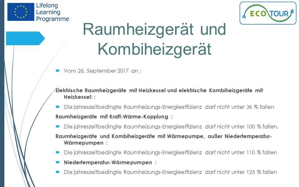Raumheizgerät und Kombiheizgerät 16  Vom 26.