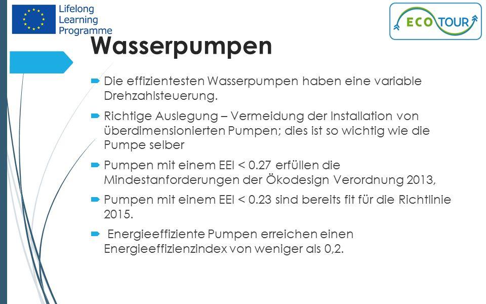 Wasserpumpen 17  Die effizientesten Wasserpumpen haben eine variable Drehzahlsteuerung.