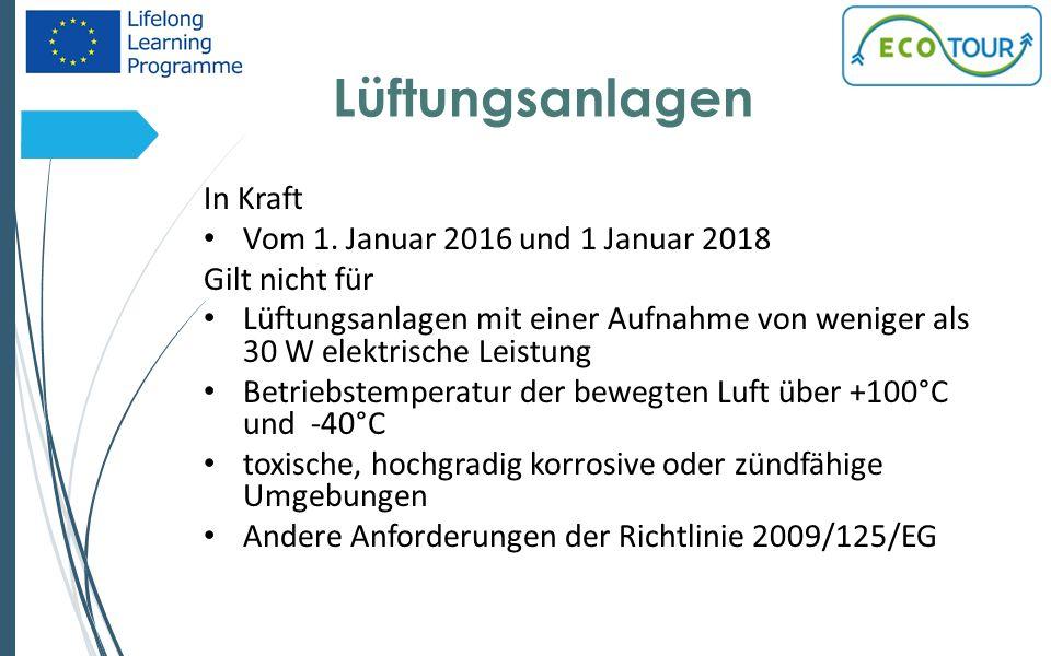 Lüftungsanlagen In Kraft Vom 1.