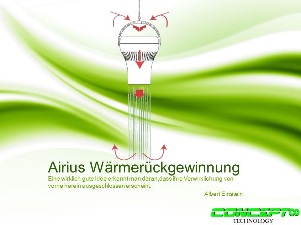 Airius Wärmerückgewinnung Eine wirklich gute Idee erkennt man daran,dass ihre Verwirklichung von vorne herein ausgeschlossen erscheint.