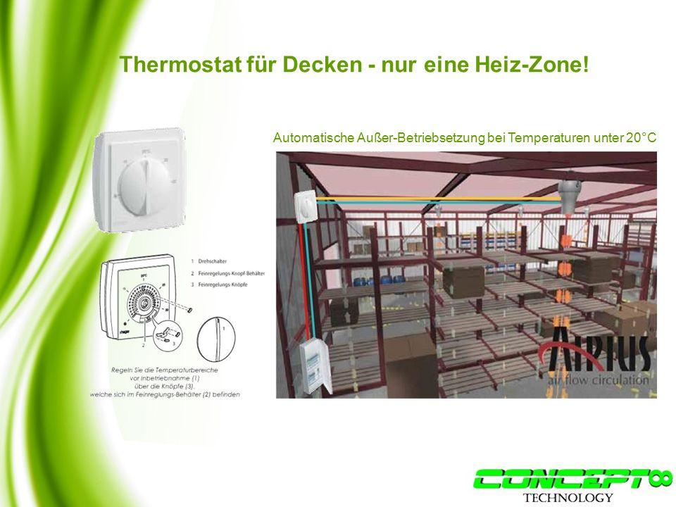 Thermostat für Decken - nur eine Heiz-Zone.