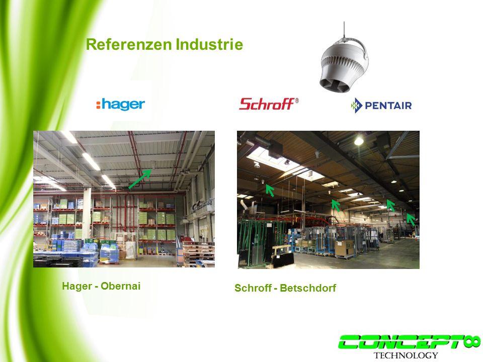 Referenzen Industrie Hager - Obernai Schroff - Betschdorf