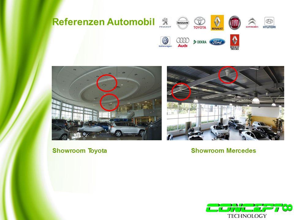 Referenzen Automobil Showroom MercedesShowroom Toyota