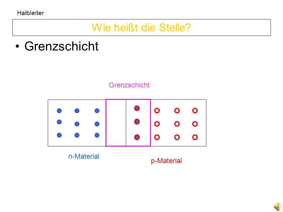 Halbleiter Diffusion Wie nennt man diesen Vorgang p-Material n-Material