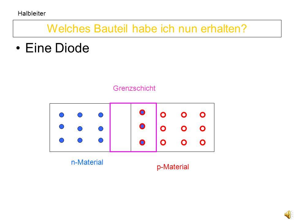 Halbleiter Sie leitet nicht da sie keine freien Elektronen und keine Löcher besitzt Welche Eigenschaft hat die Grenzschicht.