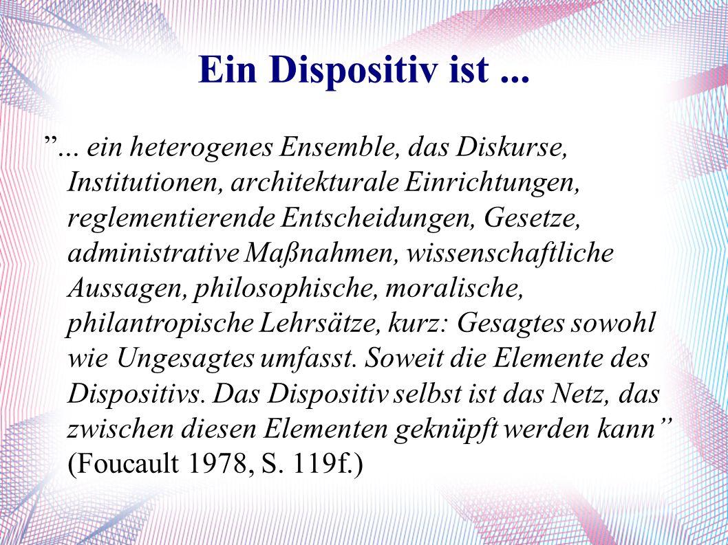 Ein Dispositiv ist... ...