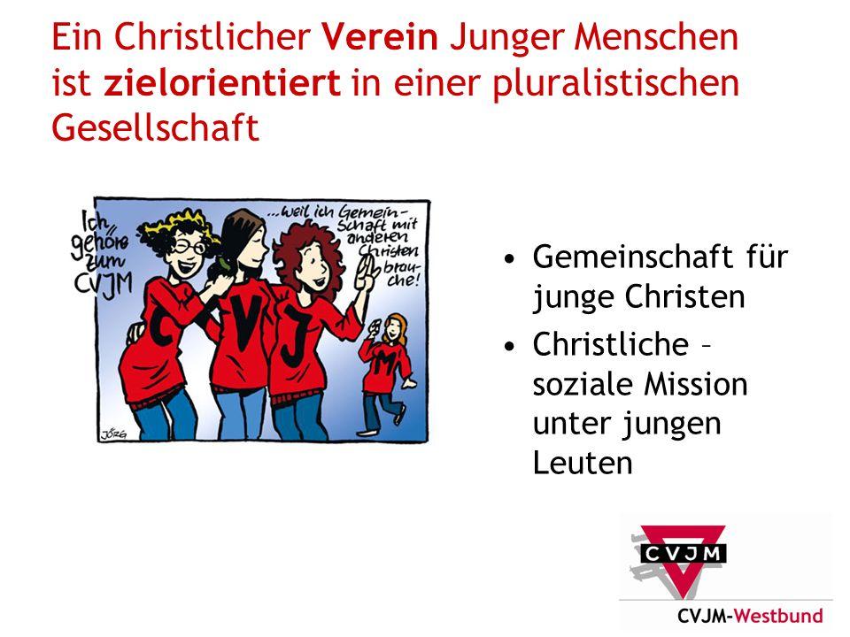 Ein Christlicher Verein Junger Menschen ist zielorientiert in einer pluralistischen Gesellschaft Gemeinschaft für junge Christen Christliche – soziale Mission unter jungen Leuten