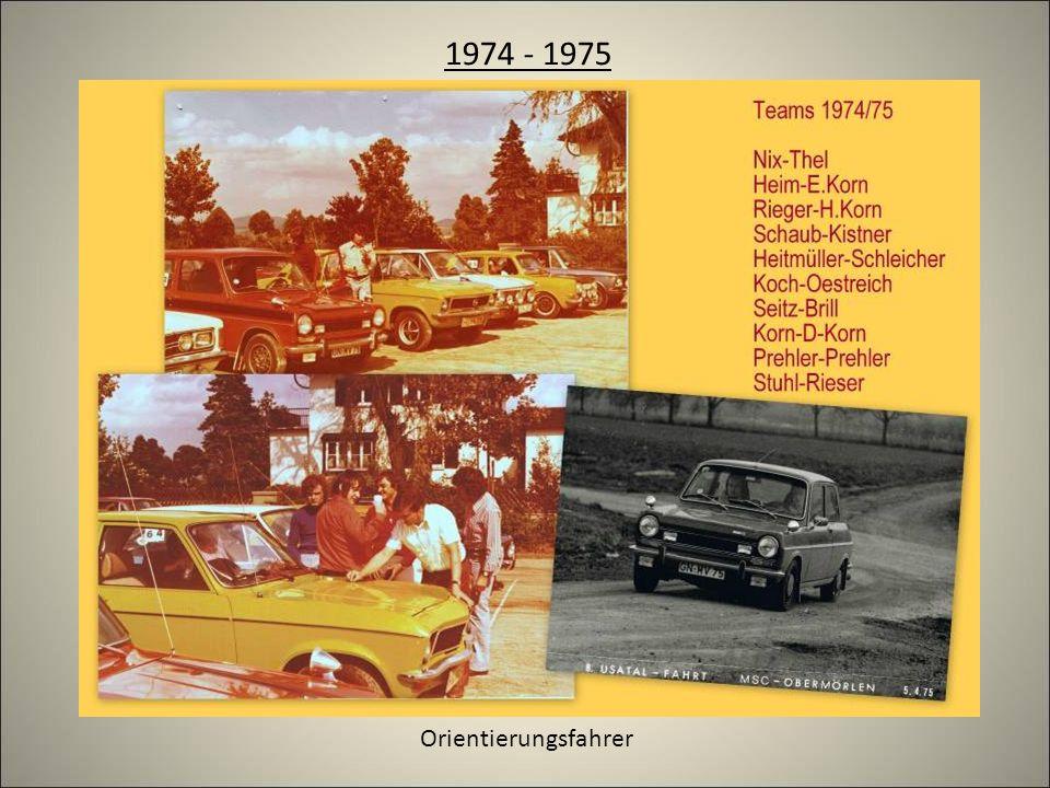1974 - 1975 Orientierungsfahrer