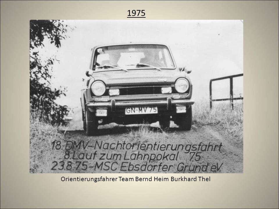 1975 Orientierungsfahrer Team Bernd Heim Burkhard Thel