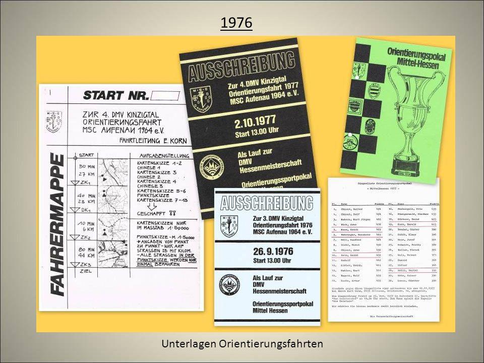1976 Unterlagen Orientierungsfahrten