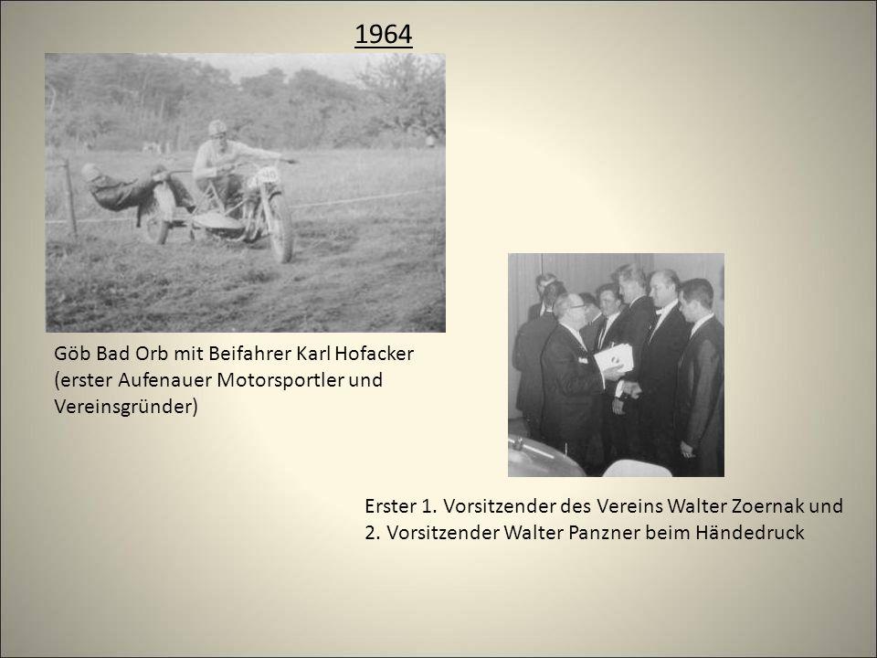 1964 Göb Bad Orb mit Beifahrer Karl Hofacker (erster Aufenauer Motorsportler und Vereinsgründer) Erster 1.