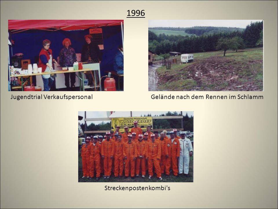 1996 Streckenpostenkombi s Gelände nach dem Rennen im SchlammJugendtrial Verkaufspersonal