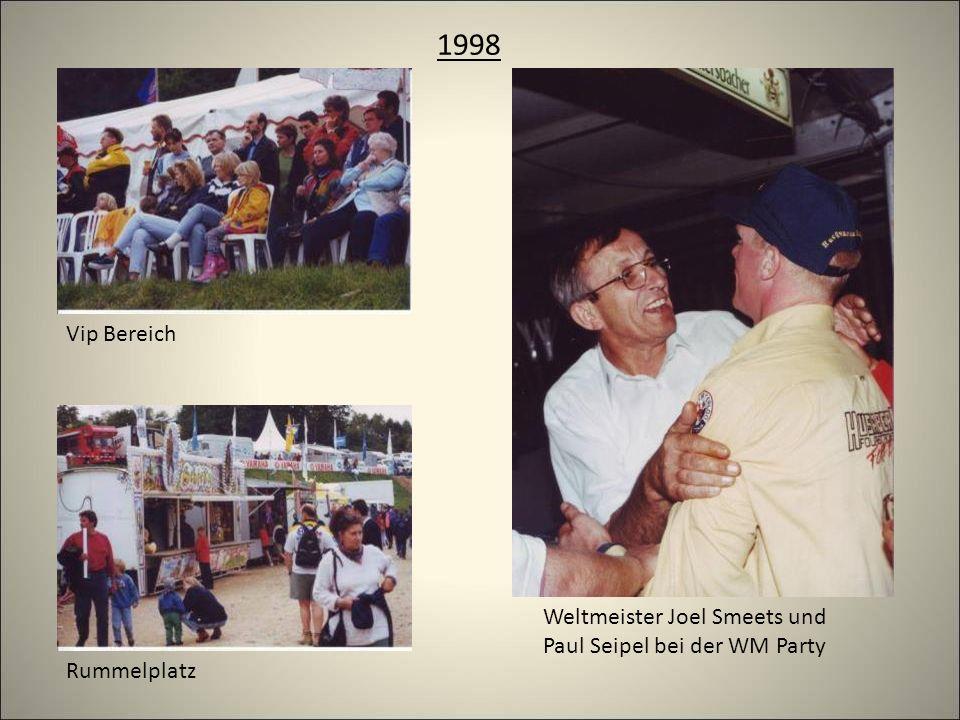 1998 Rummelplatz Weltmeister Joel Smeets und Paul Seipel bei der WM Party Vip Bereich