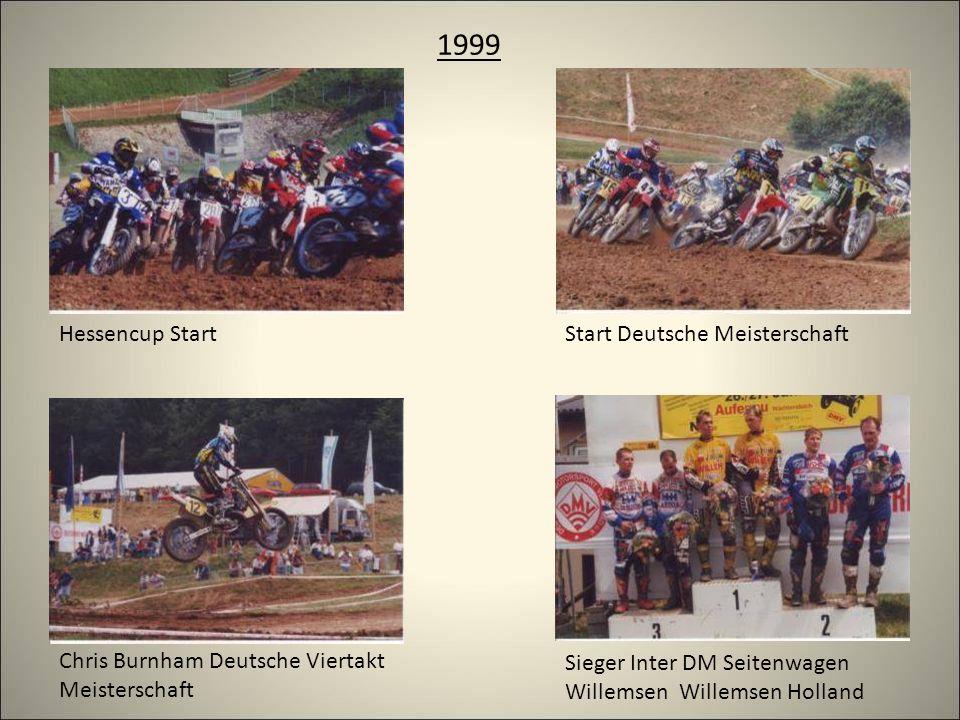 1999 Hessencup StartStart Deutsche Meisterschaft Sieger Inter DM Seitenwagen Willemsen Willemsen Holland Chris Burnham Deutsche Viertakt Meisterschaft