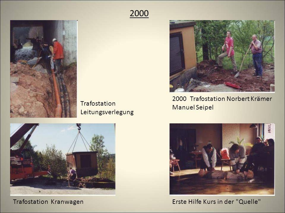 2000 Trafostation KranwagenErste Hilfe Kurs in der Quelle 2000 Trafostation Norbert Krämer Manuel Seipel Trafostation Leitungsverlegung