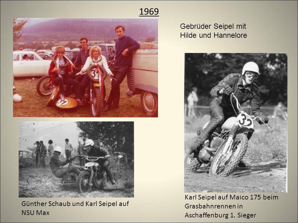 1969 Karl Seipel auf Maico 175 beim Grasbahnrennen in Aschaffenburg 1.