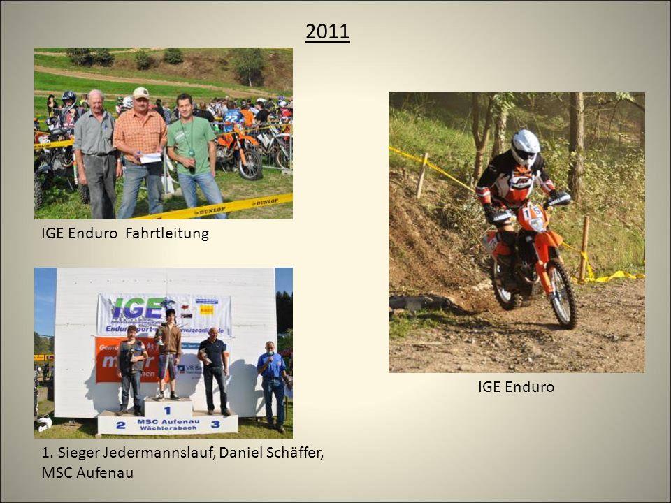 2011 IGE Enduro Fahrtleitung 1. Sieger Jedermannslauf, Daniel Schäffer, MSC Aufenau IGE Enduro