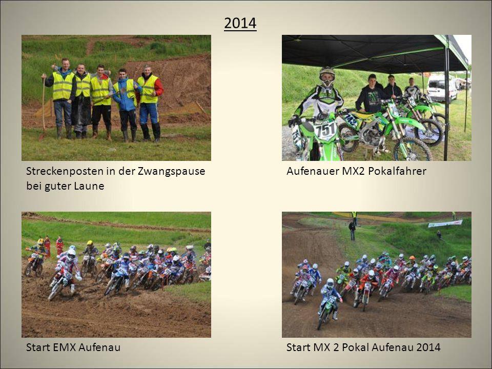 2014 Start MX 2 Pokal Aufenau 2014 Aufenauer MX2 PokalfahrerStreckenposten in der Zwangspause bei guter Laune Start EMX Aufenau