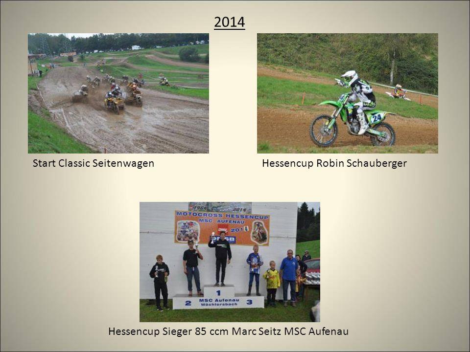 2014 Hessencup Robin SchaubergerStart Classic Seitenwagen Hessencup Sieger 85 ccm Marc Seitz MSC Aufenau
