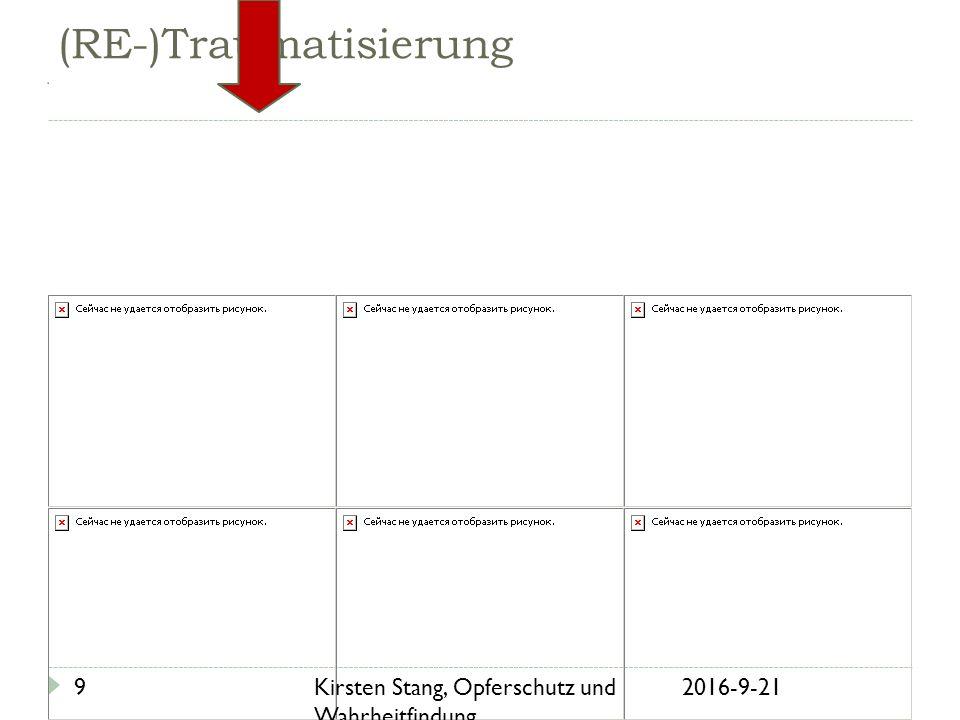 21.09.2016Kirsten Stang, Opferschutz und Wahrheitfindung.... 9 (RE-)Traumatisierung