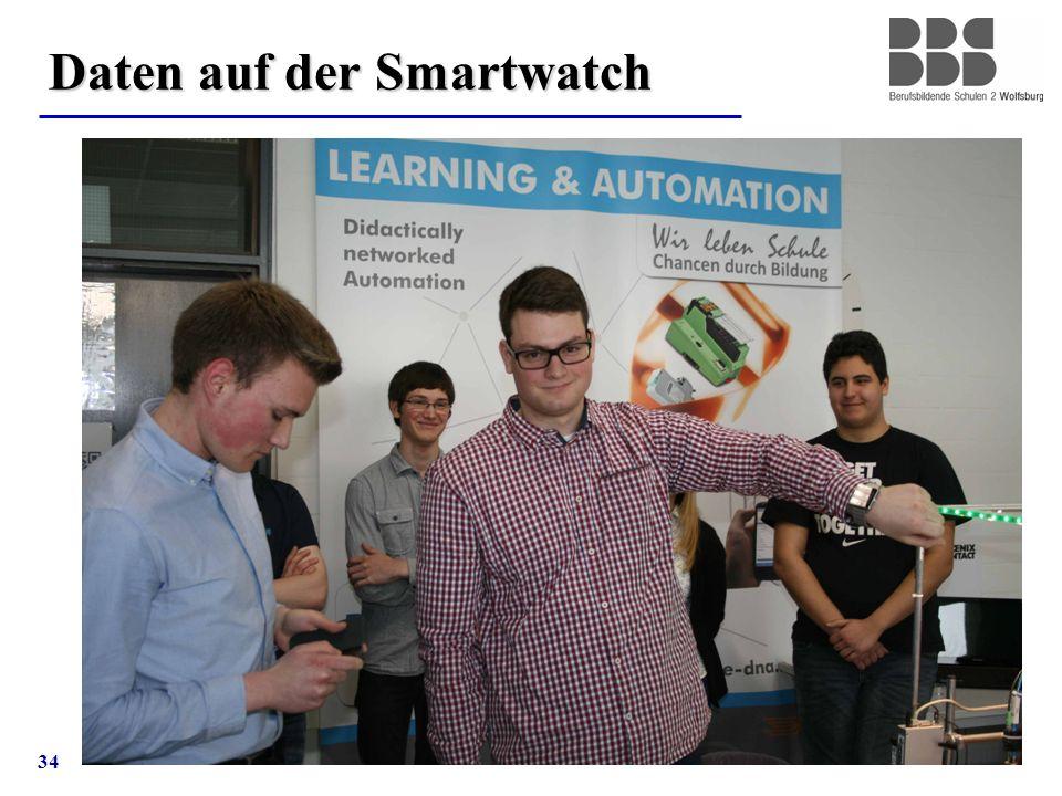 34 Daten auf der Smartwatch