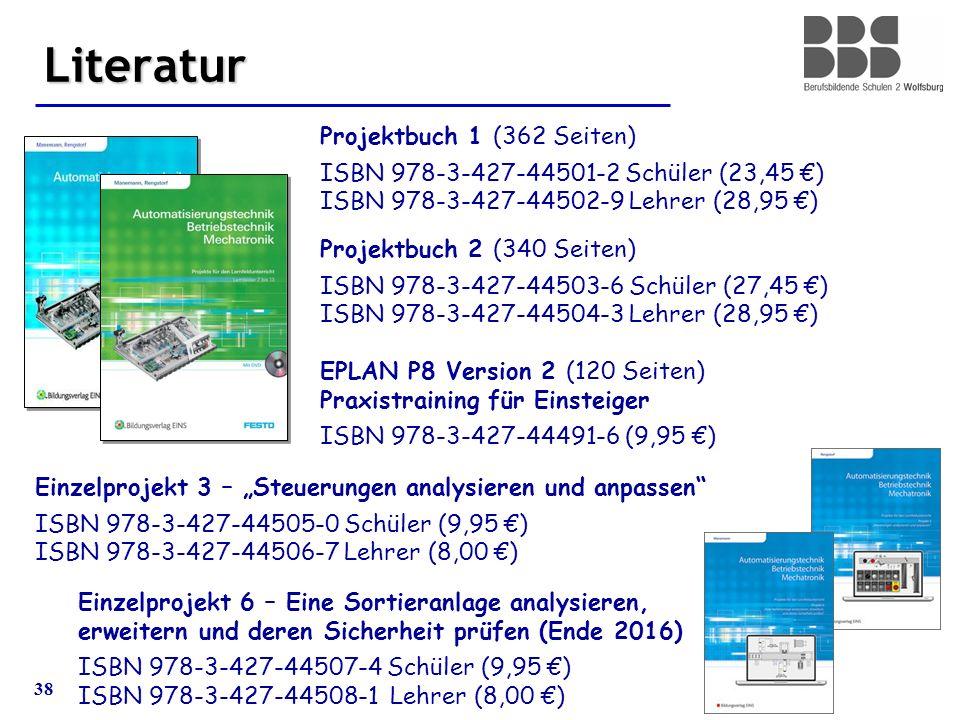 38 Literatur Projektbuch 1 (362 Seiten) ISBN 978-3-427-44501-2 Schüler (23,45 €) ISBN 978-3-427-44502-9 Lehrer (28,95 €) Projektbuch 2 (340 Seiten) IS