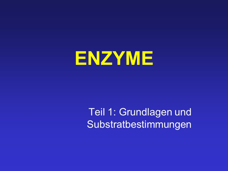 Lineweaver-Burke-Plot doppelt reziproke Auftragung von v und [S] 1/v max 1/K M v max ausschlaggebend für die maximale Geschwindig- keit ist die Menge an Enzym K M Eigenschaft des Enzyms, die auch ohne Enzymreinigung bestimmt werden kann