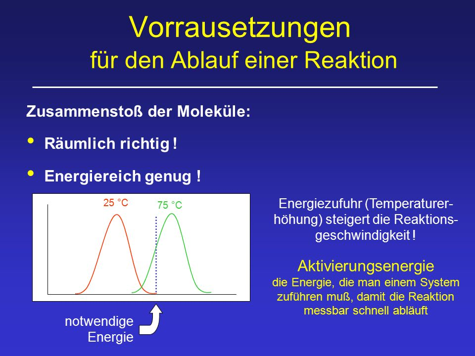 Kinetik unkatalysierte Reaktion Wenn [S] >> [P] z.B.