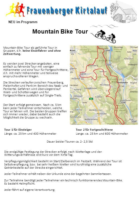 Mountain-Bike Tour als geführte Tour in Gruppen, d.h.