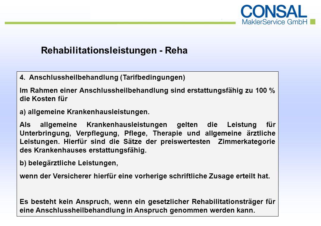 Rehabilitationsleistungen - Reha 4.