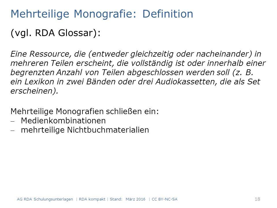 Mehrteilige Monografie: Definition (vgl.