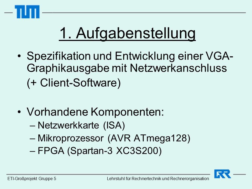 ETI-Großprojekt Gruppe 5Lehrstuhl für Rechnertechnik und Rechnerorganisation 1.