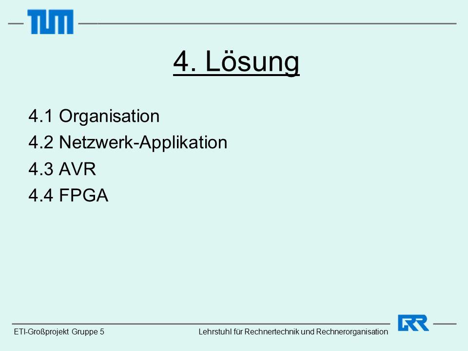 ETI-Großprojekt Gruppe 5Lehrstuhl für Rechnertechnik und Rechnerorganisation 4.