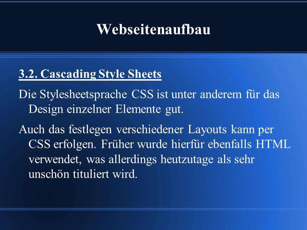 Webseitenaufbau 3.2.