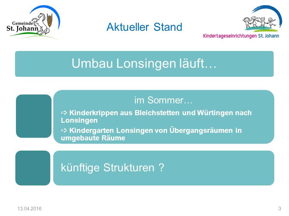 Aktueller Stand Umbau Lonsingen läuft… im Sommer…  Kinderkrippen aus Bleichstetten und Würtingen nach Lonsingen  Kindergarten Lonsingen von Übergang