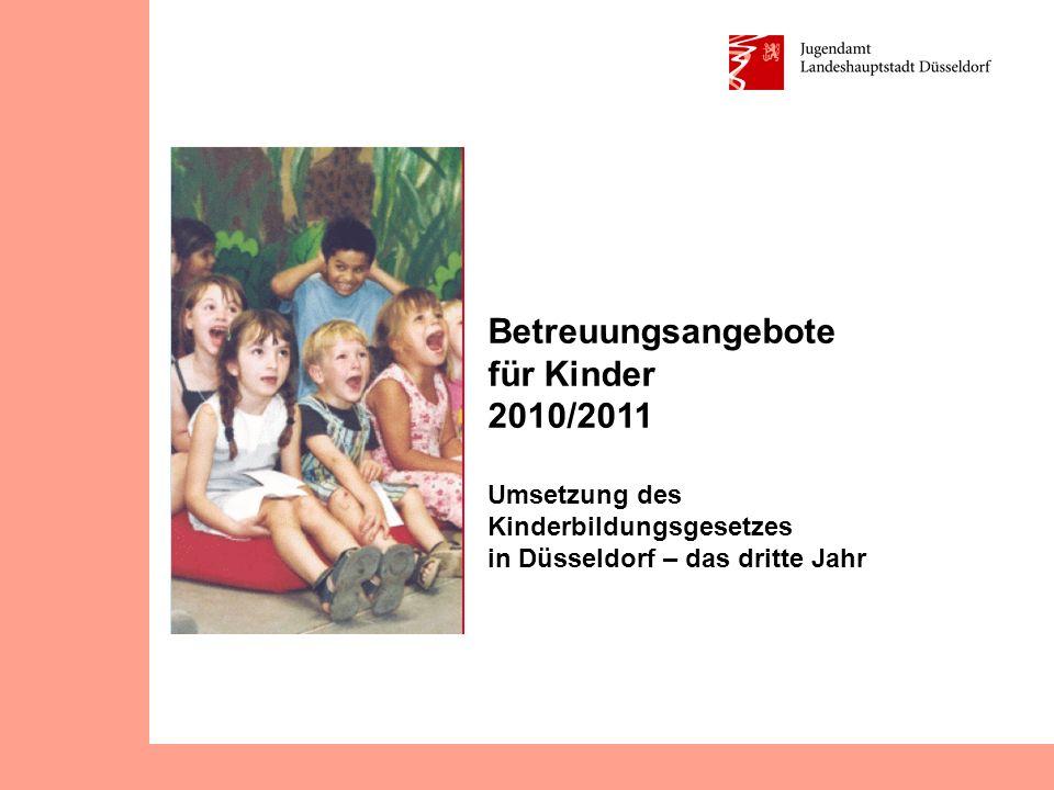 Betreuungsangebote für Kinder 2010/2011 Umsetzung des Kinderbildungsgesetzes in Düsseldorf – das dritte Jahr