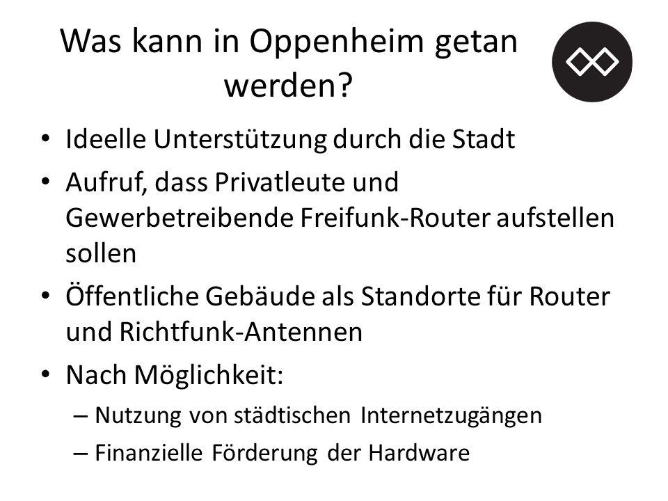 Was kann in Oppenheim getan werden.