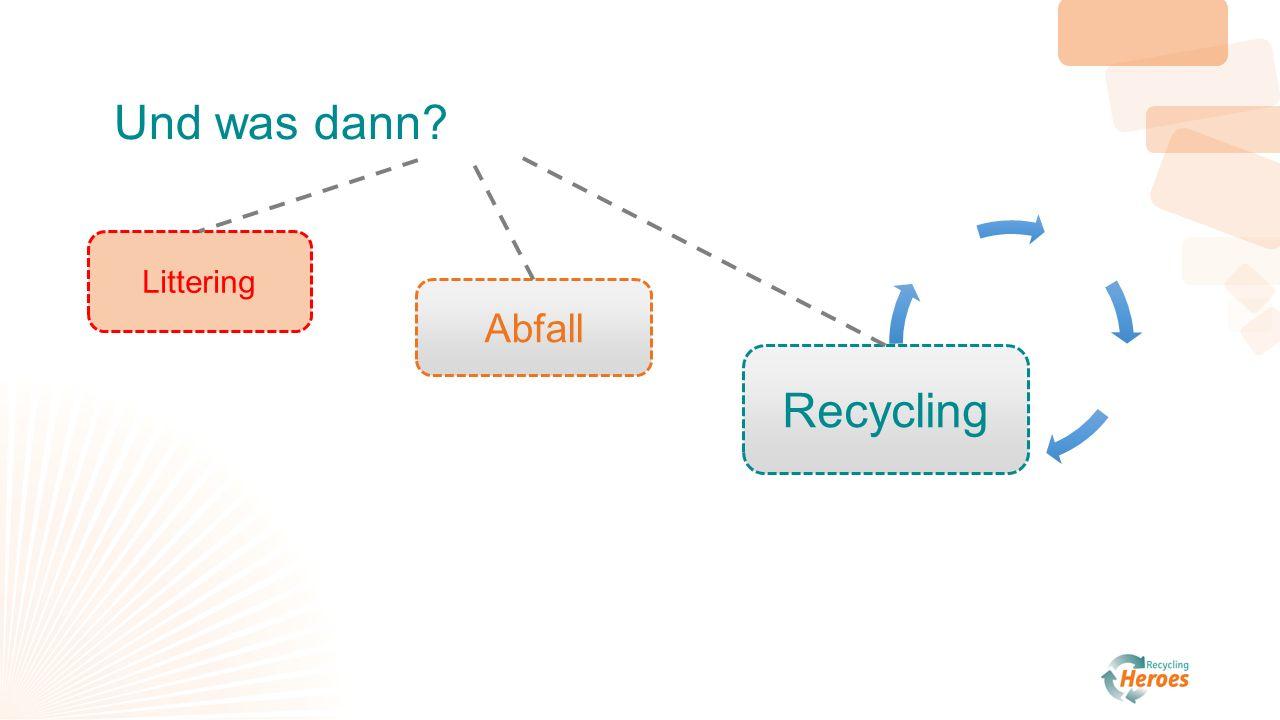 n n N N N Abfall Littering Recycling Und was dann