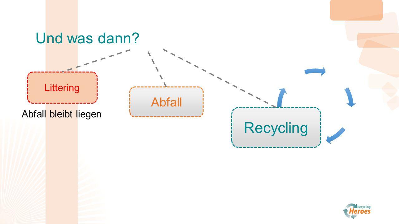 n n N N N Abfall Littering Recycling Und was dann Abfall bleibt liegen