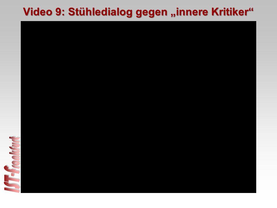 """Video 9: Stühledialog gegen """"innere Kritiker"""